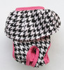 Houndstooth - Pink Trim