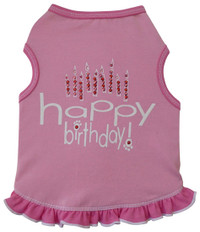 Happy Birthday Girl Pink Tank Dress
