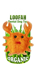 Organic Crab Dental Loofah Toy