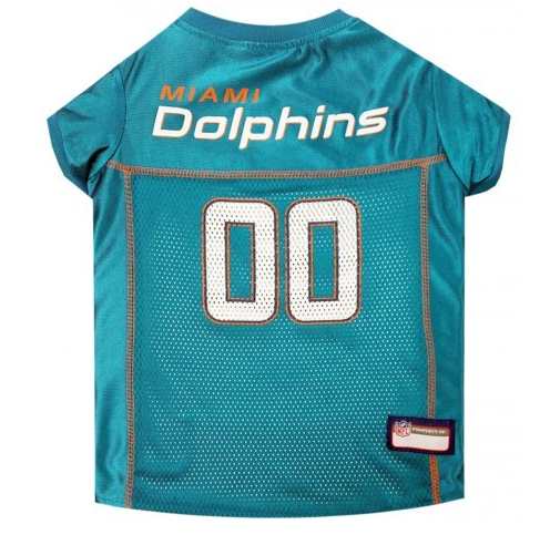 hot sale online 3a486 48fd4 Miami Dolphins Teal Dog Jersey