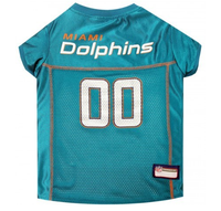 Miami Dolphins Teal Dog Jersey