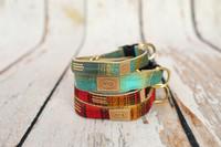 Cabin Flannel Plaid Collar & Lead