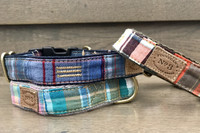 Madras Plaid Collar & Lead