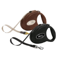 Flexi Leather Retractable Tape Leash