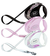 Flexi Glam Composition Retractable Tape Leash