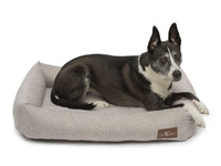 Printed Plush Velour Memory Foam Cuddler Dog Bed