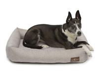 Printed Plush Velour Memory Foam Cuddler Dog Bed