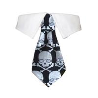 Crossbones Shirt Tie Collar