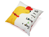 All You Need is Love and a Dog Decorative Pillow