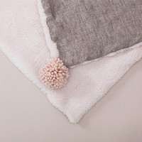 Louisdog Pompom Linen Blanket