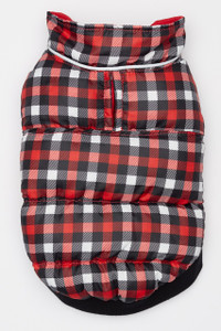 Flex-Fit Reversible Puffer Vest - Red/Gingham