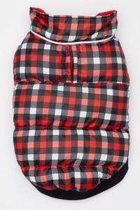 Flex-Fit Reversible Puffer Vest - Red/Gingham