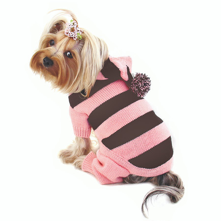 Pink Stripe Dog Bodysuit