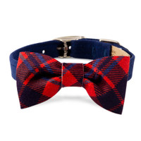 Susan Lanci Scotty Bow Tie Ultrasuede Collar