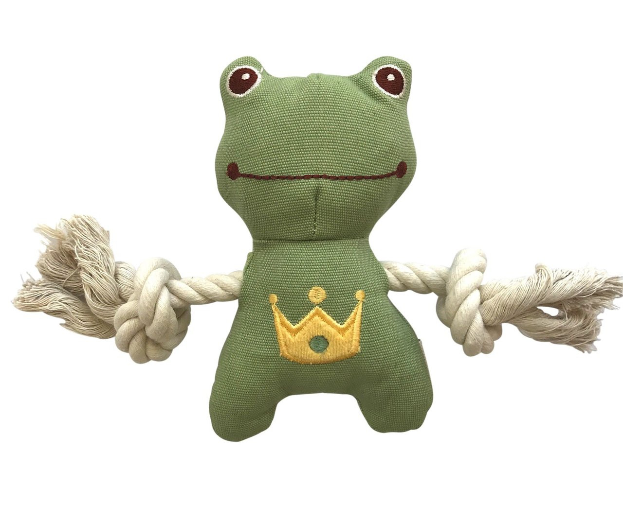 Little Charles Frog Organic Rope Toy