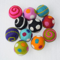 Assorted Felt Pet Balls - 3 Pack