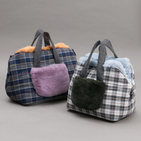 Louisdog Check Fur Around Bag