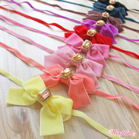 Wooflink Velvet Bow Necklace