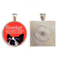 Boston Terrier Silver Pet ID Tag