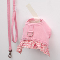 Louisdog Organic Frill Harness Set