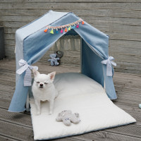 Louisdog Peekaboo Lucky Blue House