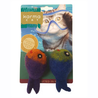 Assorted Felted Fish Toys - 2 Pack