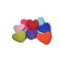 Assorted Felted Heart Toys - 4 Pack