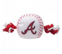 Atlanta Braves Nylon Ball Rope Toy