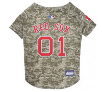 Boston Red Sox Camo Dog Jersey