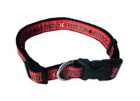 Houston Astros Ribbon Dog Collar