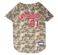Cleveland Indians Camo Dog Jersey