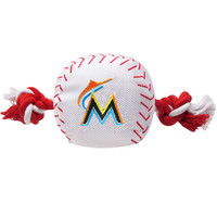 Miami Marlins Nylon Ball Rope Toy