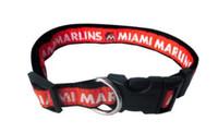 Miami Marlins Ribbon Dog Collar