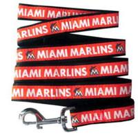 Miami Marlins Ribbon Dog Leash