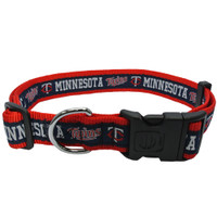 Minnesota Twins Ribbon Dog Collar