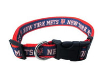 New York Mets Ribbon Dog Collar