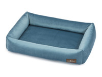 Plush Velour Memory Foam Cuddler Dog Bed