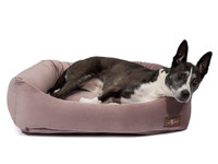 Plush Velour Napper Dog Bed