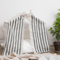 Louisdog Peekaboo Linen Stripes House