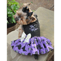 Too Cute to Spook Halloween Dog Harness Dress