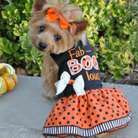 Fab-BOO-lous Halloween Dog Harness Dress