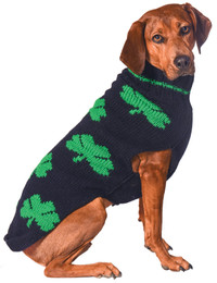 Green Shamrocks Dog Sweater