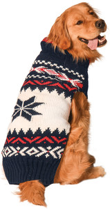 Navy Vail Dog Sweater