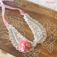 Wooflink Vintage Flower Girl Necklace
