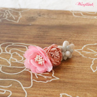 Wooflink Vintage Flower Girl Hairclip