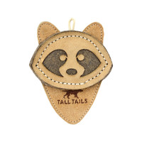 Scrappy Natural Leather Raccoon Toy