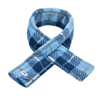 Blue Plaid Fleece Dog Scarf