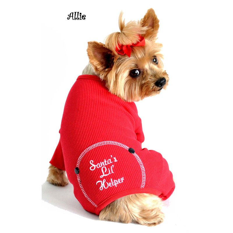 Christmas Pajamas For Dog.Christmas Dog Pajama Santa S Lil Helper