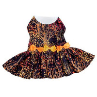 Fall Leaves Harness Dress With Matching Leash