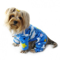 Stars and Clouds Fleece Turtleneck Pajama
